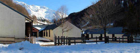 Le centre en hiver